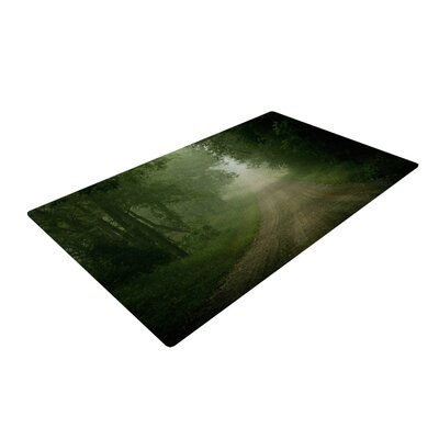 Angie Turner Foggy Road Forest Dark Green Area Rug Rug Size: 2 x 3