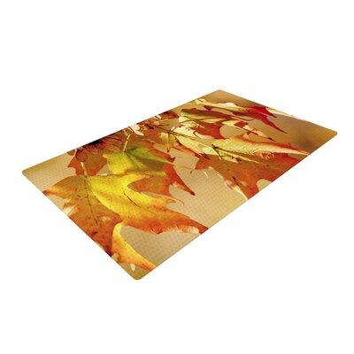 Angie Turner Autumn Leaves Vibrant Orange Area Rug