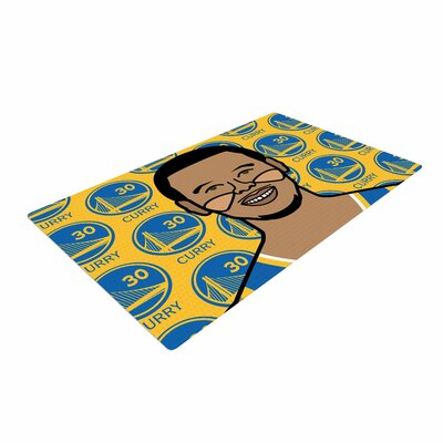 Will Wild Steph Curry Sports Yellow Area Rug