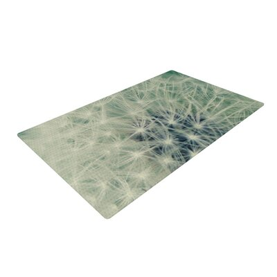 Angie Turner Fuzzy Wishes Green/White Area Rug Rug Size: 4 x 6