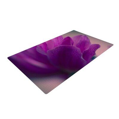 Ann Barnes Standing Ovation Flower Purple Area Rug