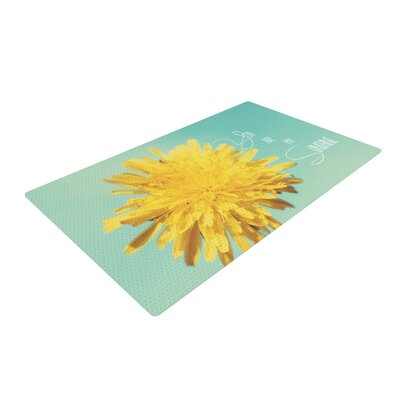 Beth Engel You are My Sunshine Flower Green/Yellow Area Rug Rug Size: 2 x 3