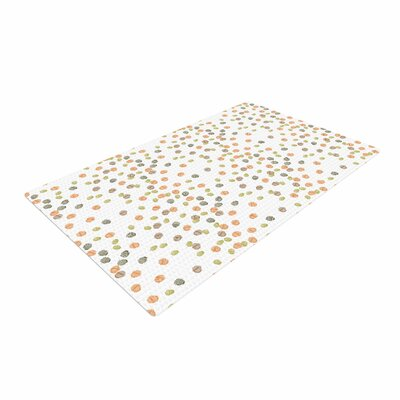 Yenty Jap Autumn Spots Orange/Green Area Rug Rug Size: 2 x 3