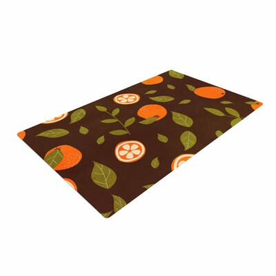 Strawberringo Pattern Abstract Food Orange Area Rug Rug Size: 2 x 3