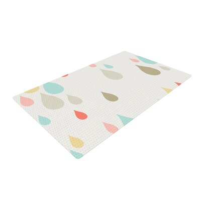 Very Sarie Rainy Days White Area Rug Rug Size: 2 x 3