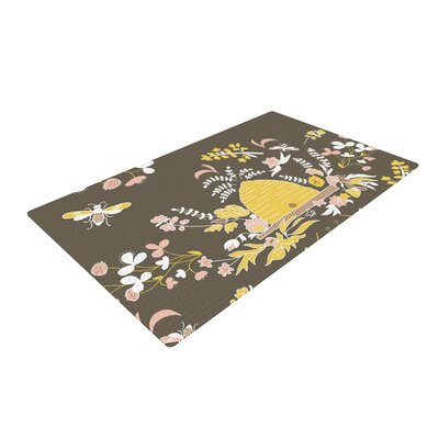 Very Sarie Hope for the Flowers II Yellow/Brown Area Rug Rug Size: 2 x 3