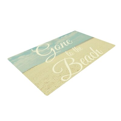 Alison Coxon Gone To the Beach Tan/Blue Area Rug Rug Size: 2 x 3