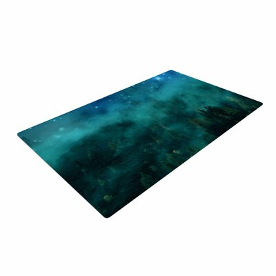 888 Design Forest Night Digital Green Area Rug Rug Size: 2 x 3