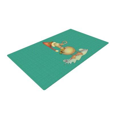 Carina Povarchik Xmas Duck Teal Area Rug Rug Size: 2 x 3