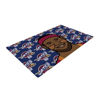 Will Wild Lebron James Basketball Blue/Pink Area Rug Rug Size: 4 x 6
