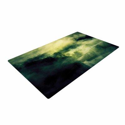 888 Design Dark Mystical Landscape Green/Black Area Rug Rug Size: 2 x 3
