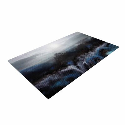 Viviana Gonzalez Calling the Sun III Blue/Black Area Rug