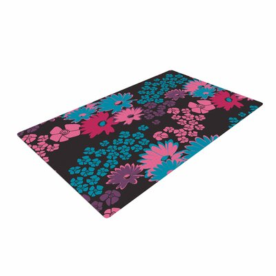 Zara Martina Mansen Berry Color Bouquet Teal/Pink Area Rug Rug size: 4 x 6