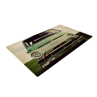 Angie Turner Dodge Car Green Area Rug
