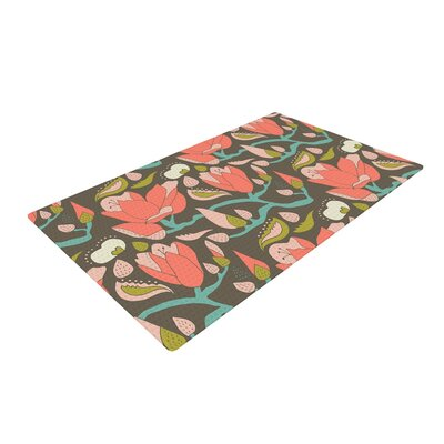 Very Sarie Penelope II Tags Gray/Pink Area Rug Rug Size: 2 x 3