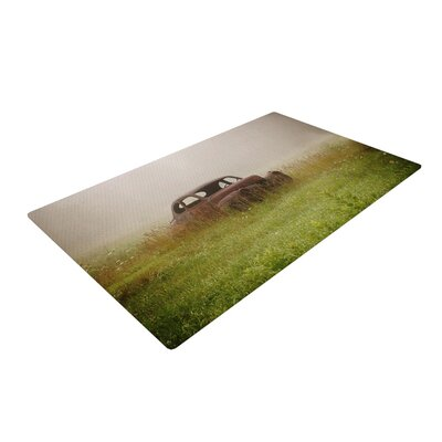 Angie Turner Forgotten Car Grass Green/Brown Area Rug Rug Size: 2 x 3