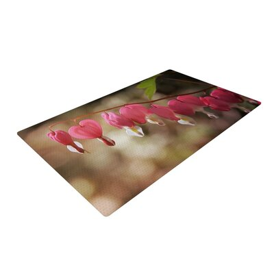 Angie Turner Bleeding Hearts Flower Pink Area Rug Rug Size: 4 x 6