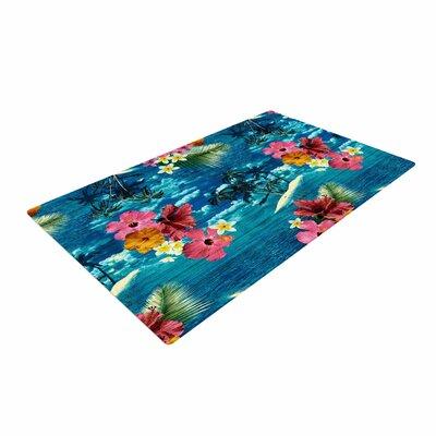 Victoria Krupp Paradise Island Floral Teal Area Rug Rug Size: 4 x 6