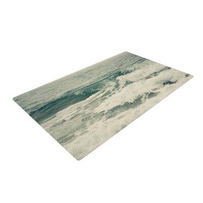 Cristina Mitchell Crashing Waves Teal/Ocean Area Rug Rug Size: 2 x 3