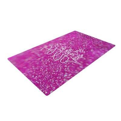 Beth Engel Born with Glitter Sparkle Pink Area Rug Rug Size: 4 x 6