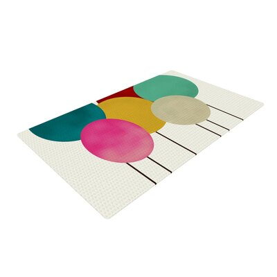 Bri Buckley Celebration Circles Cream Area Rug Rug Size: 2 x 3