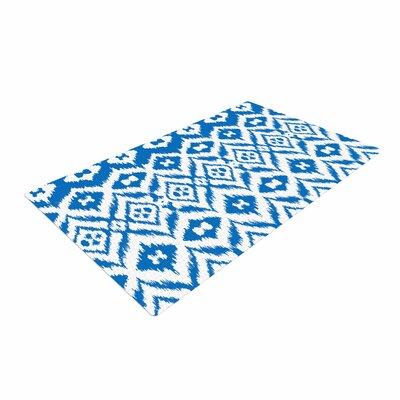Victoria Krupp Vk_Ikat Tribal Blue Area Rug Rug Size: 2 x 3