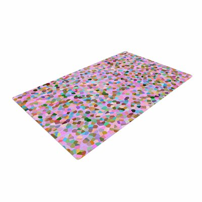 Vasare Nar Candy Confetti Abstract Pastel/Pink Area Rug