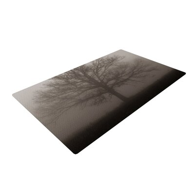 Angie Turner Lonely Tree Fog Dark Gray Area Rug Rug Size: 4 x 6
