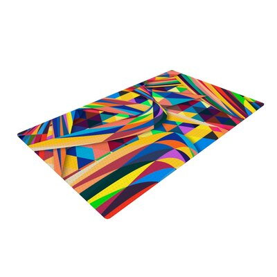 Danny Ivan the Optimist Geometric Multicolor Area Rug Rug Size: 2 x 3
