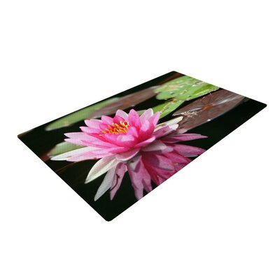 Angie Turner Water Lily Green/Pink Area Rug Rug Size: 4 x 6