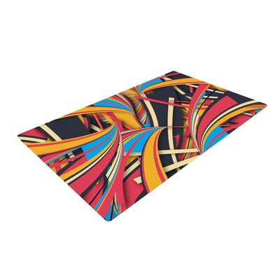 Danny Ivan Slippery Slope Orange/Blue Area Rug Rug Size: Rectangle 2 x 3