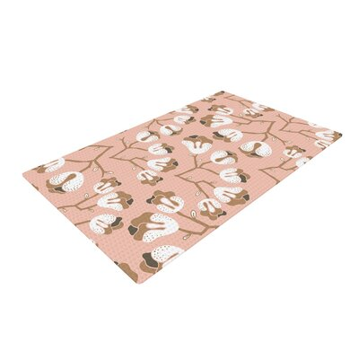 Very Sarie Hope for the Flowers III Pink/White Area Rug Rug Size: 2 x 3