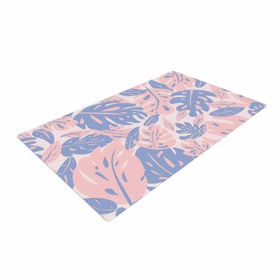 Will Wild Rose Quartz and Serenity Jungle Floral Pink Area Rug