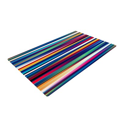 Danny Ivan Blurry Lines Multicolor Area Rug Rug Size: 2 x 3