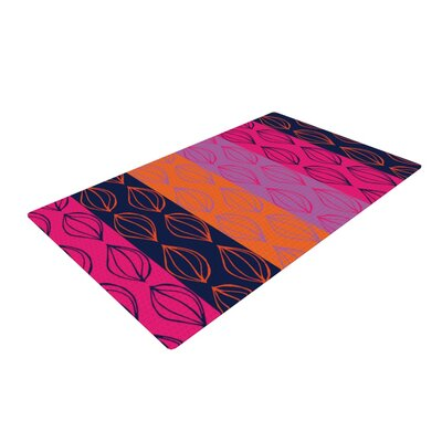 Anneline Sophia Tropical Seeds Pink/Orange Area Rug Rug Size: 4 x 6