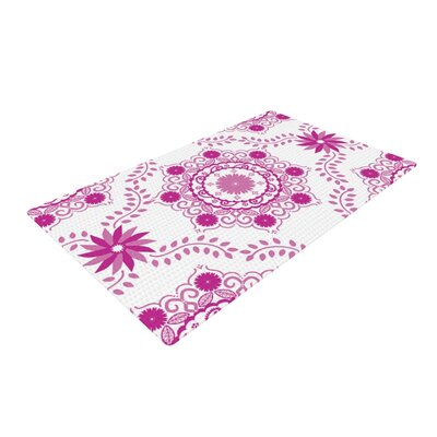 Anneline Sophia Lets Dance Fuschia Floral Pink Area Rug Rug Size: 2 x 3