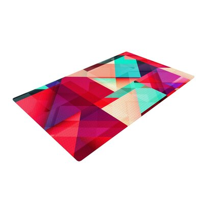 Danny Ivan Still New Red/Pink Area Rug Rug Size: 2 x 3