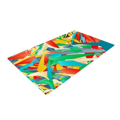Danny Ivan Soccer Slide Crazy Rainbow Area Rug Rug Size: Rectangle 2 x 3
