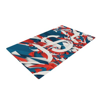 Danny Ivan USA World Cup Blue/Red Area Rug Rug Size: 4 x 6