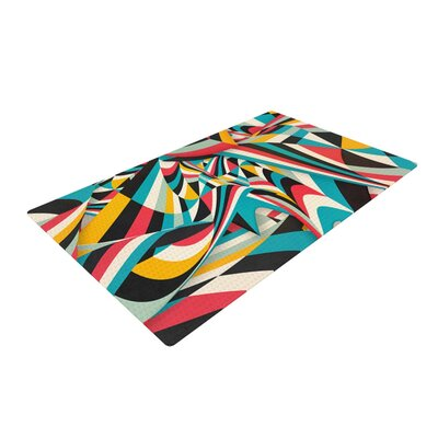 Danny Ivan Dont Come Close Abstract Blue Area Rug Rug Size: 2 x 3