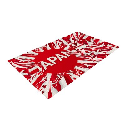Danny Ivan Japan World Cup Red/White Area Rug Rug Size: 4 x 6