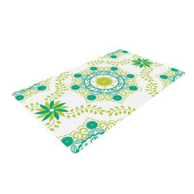 Anneline Sophia Lets Dance Floral Teal Area Rug Rug Size: 2 x 3