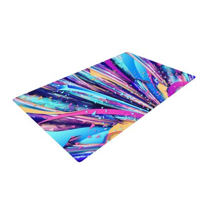 Danny Ivan Enjoy Life Purple/Blue Area Rug Rug Size: 4 x 6