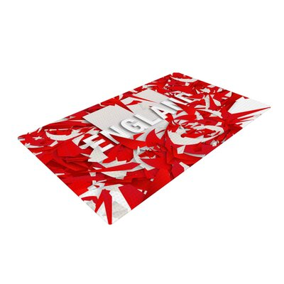 Danny Ivan England World Cup Red/White Area Rug Rug Size: 2 x 3