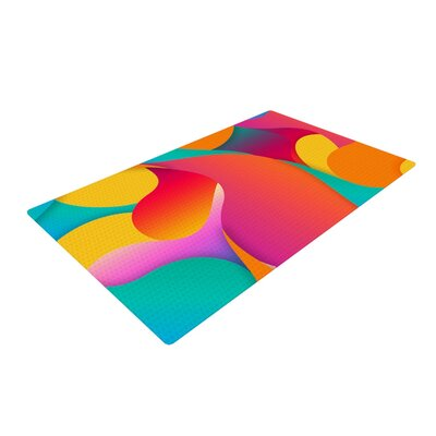 Danny Ivan Still Life Warm Abstract Pink/Yellow Area Rug Rug Size: 2 x 3