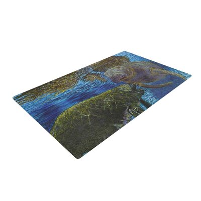 David Joyner Manatees Blue/Green Area Rug