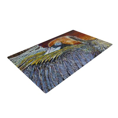 David Joyner Pelican Bird Orange Area Rug Rug Size: 2 x 3