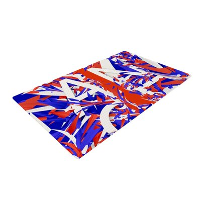 Danny Ivan France World Cup Red/Blue Area Rug Rug Size: 2 x 3