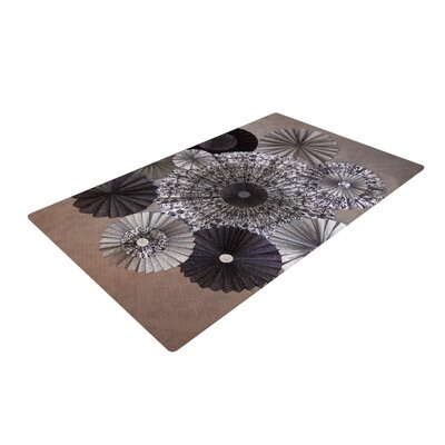 Heidi Jennings Shadows Circles Dark Brown Area Rug Rug Size: 4 x 6