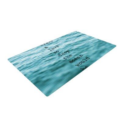 Debbra Obertanec Crave Love Blue/Ocean Area Rug Rug Size: 2 x 3